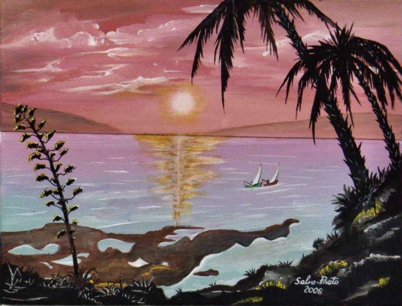Donna al tramonto  Opera darte di Salvo Proto