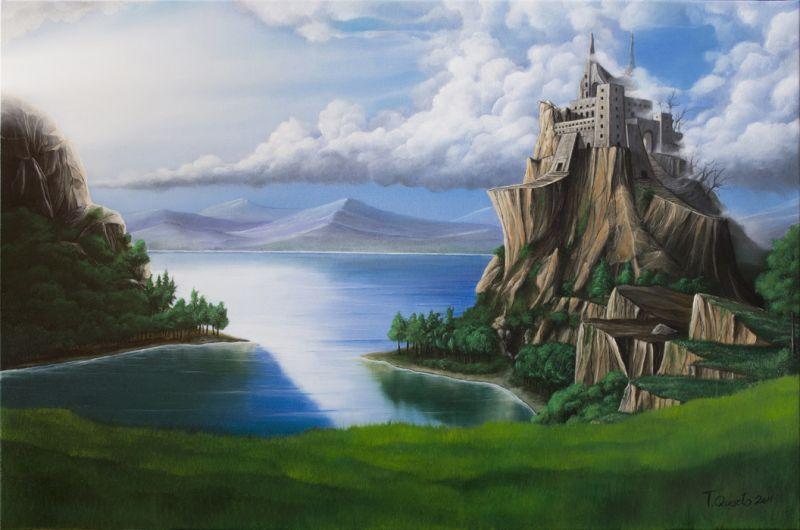 paesaggio montano  Opera darte di Teodoro Quarto