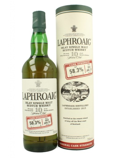Laphroaig 10 Cask Strength Batch 2 (OB, 2010, 58,3%)