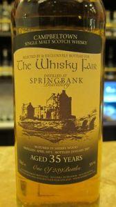 Springbank 1971/2007 (The Whisky Fair, 2007, 59%)