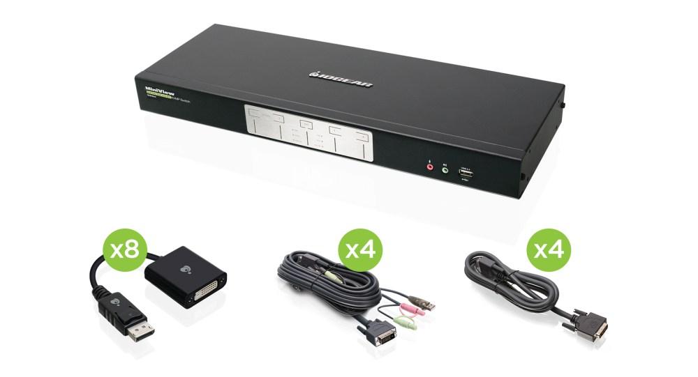 medium resolution of 4 port dual link dual view dvi and displayport kvmp kit taa compliant
