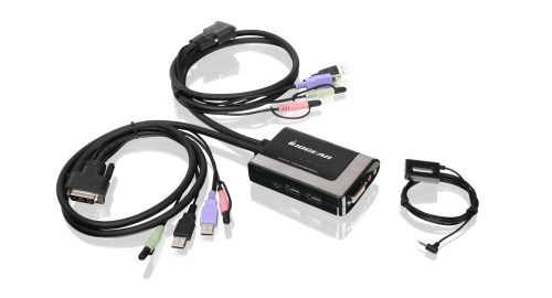 small resolution of 2 port usb dvi d cable kvm with audio and mic