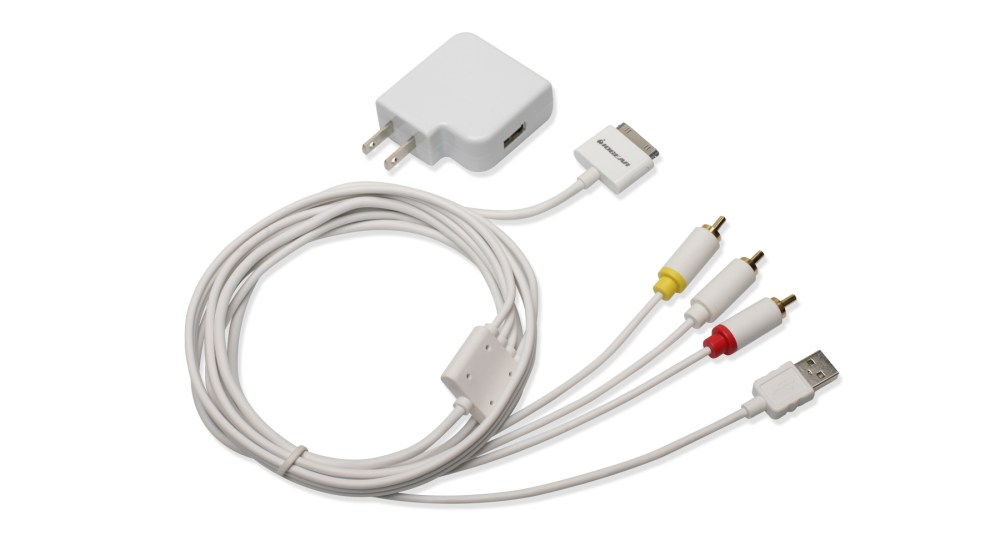 medium resolution of composite av cable with charge and sync for iphone ipod