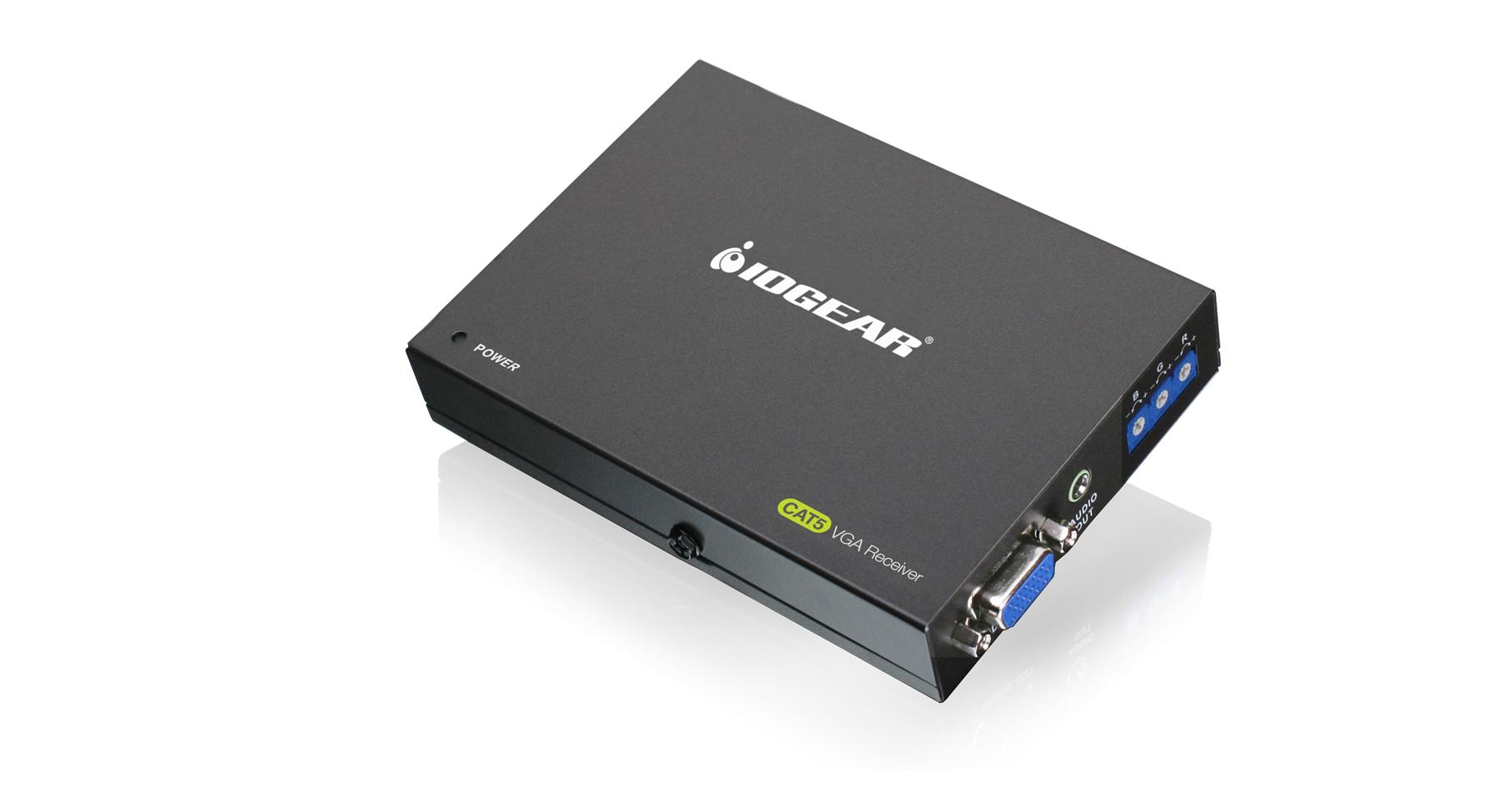 hight resolution of vga cat5e 6 audio video receiver with rgb deskew capability