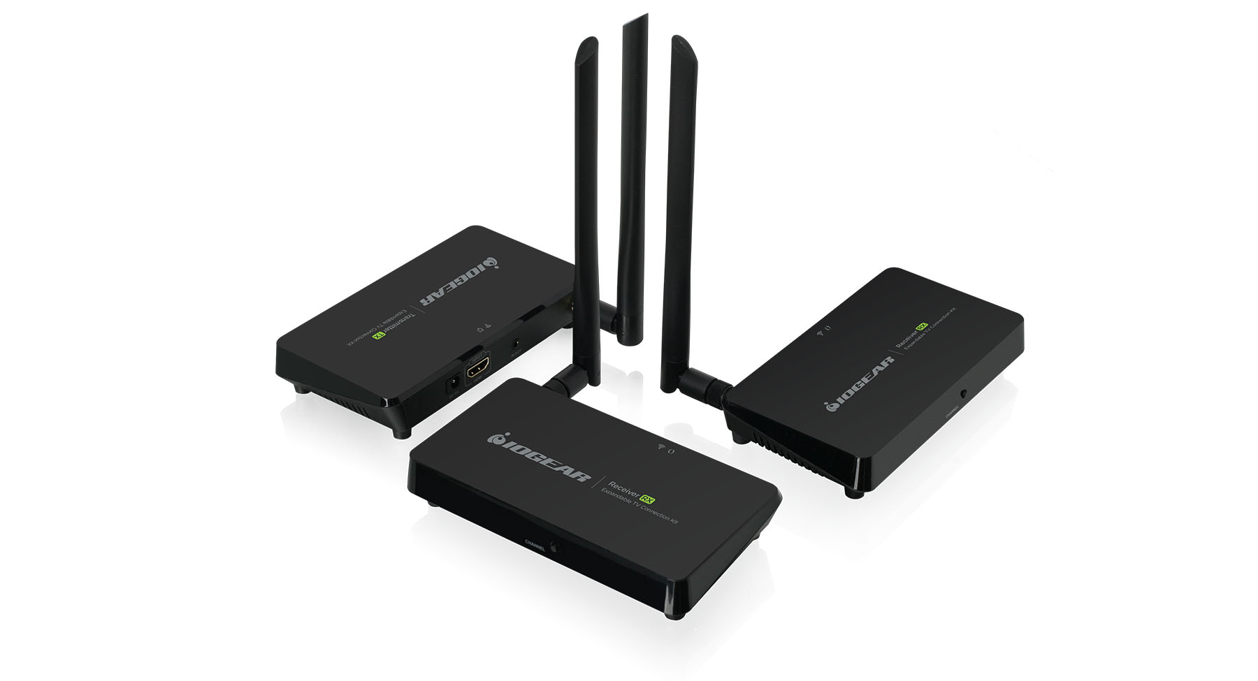 hight resolution of expandable wireless tv connection kit with 2 receivers