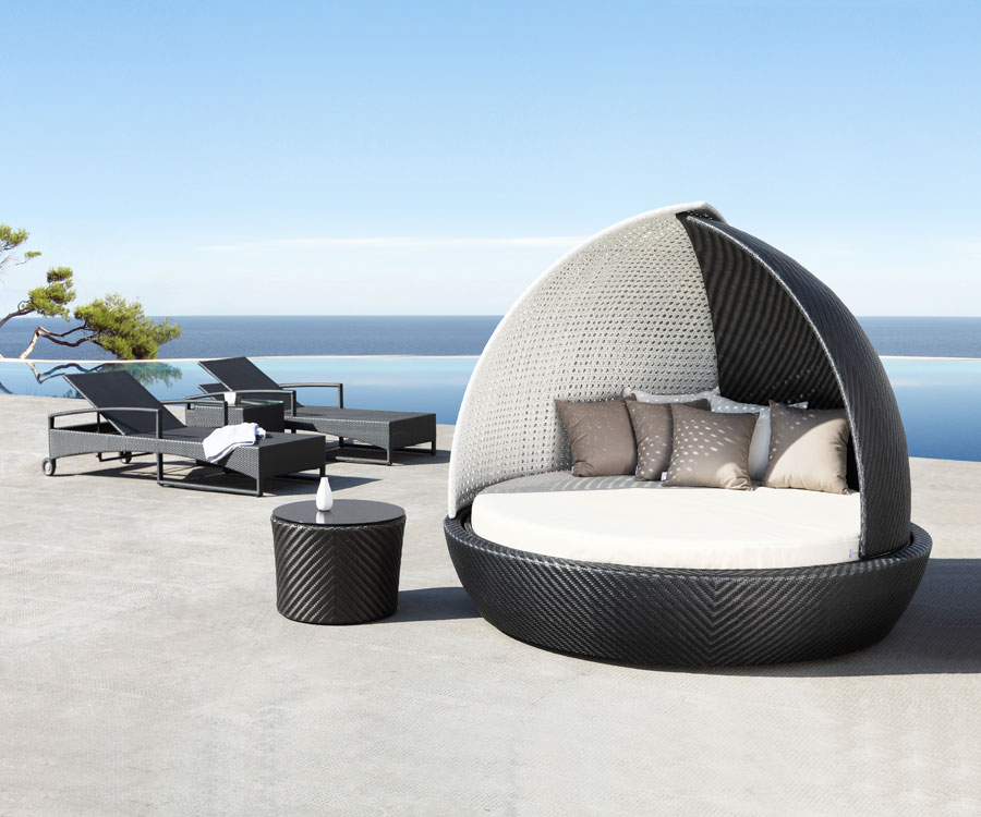 hanging egg chair uk blue fuzzy rattan daybed | gorgeous garden |unique iola sailbed