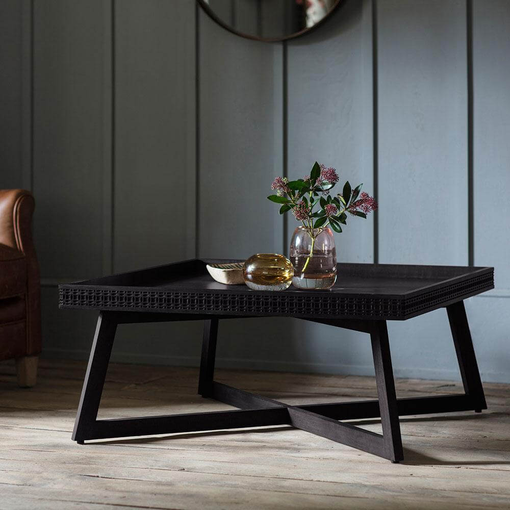 the chic black coffee table