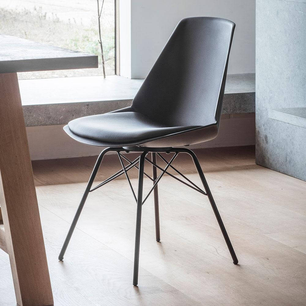 The Contemporary Dining Chair In Black 4pk Insideout Living
