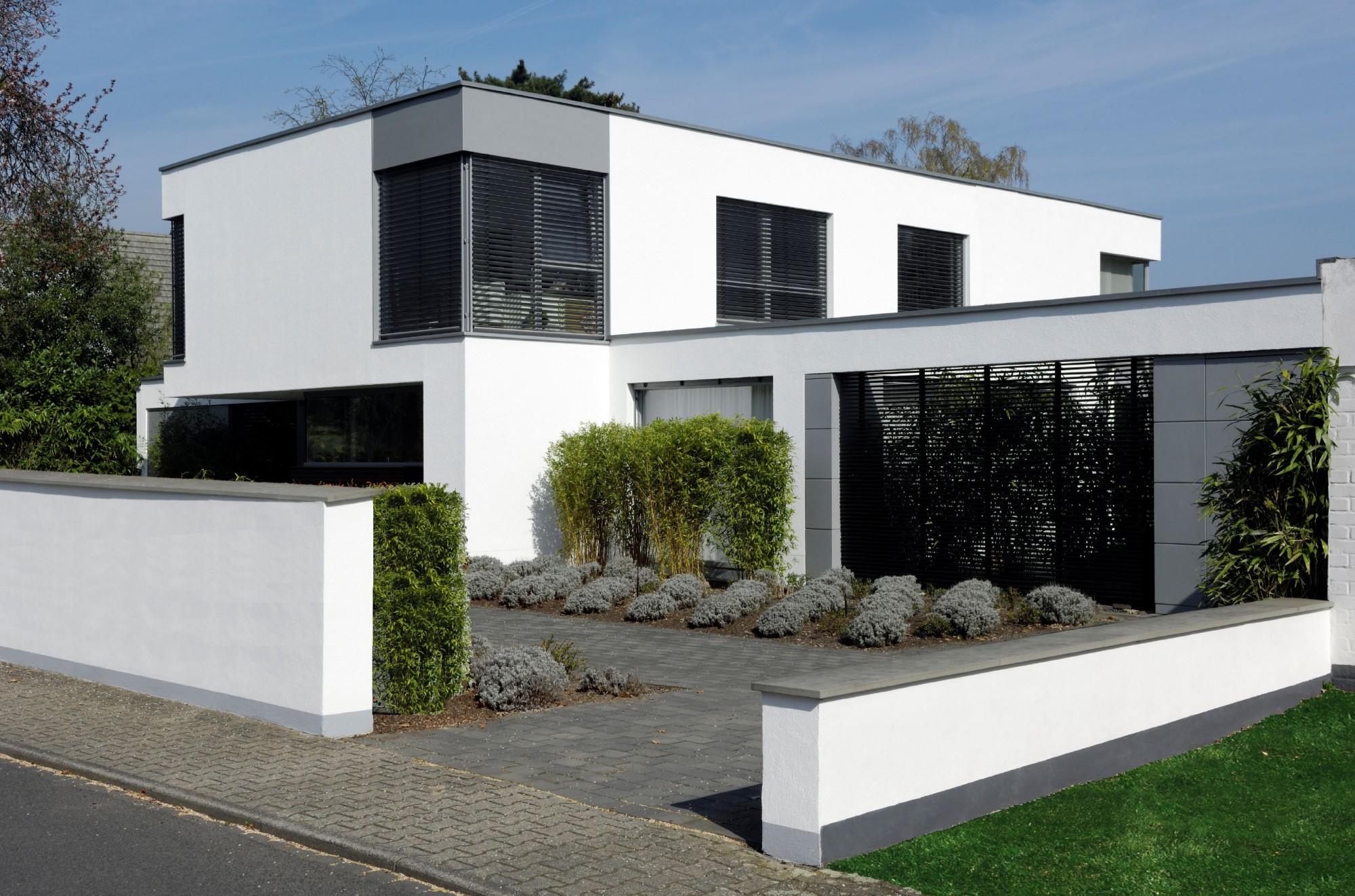 maison moderne forme cubique