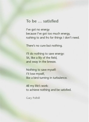 Be Satisfied