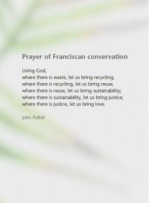 Prayer of Franciscan conservation