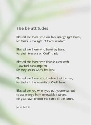 The Be-attitudes