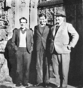Left to right: Bill Amos, Adam Campbell and Calum Macpherson (Joe Blair archive)