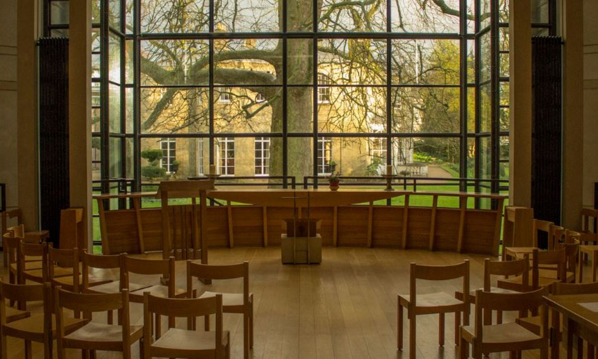 Photograph of the Chapel at Fitzwilliam College, Cambridge. Credit: Mihnea Maftei. (CC 2.0)
