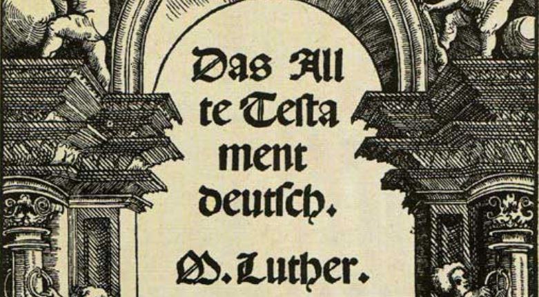 Detail from Das Allte Testament deutsch (title page) via wikimedia