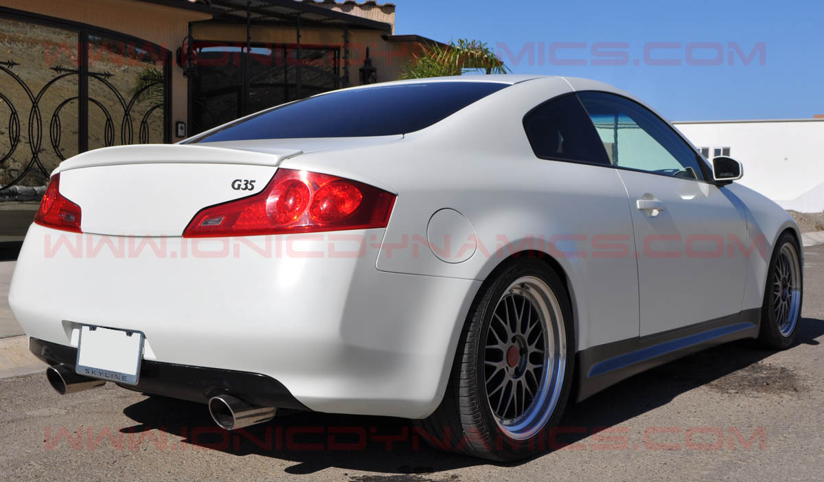 G35 Gialla shorty rear spoiler