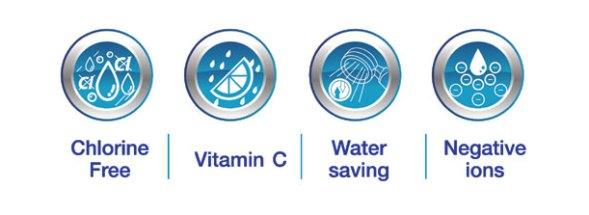 soffione acqua doccia ionizzata con filtro d'acqua con la vitamina C