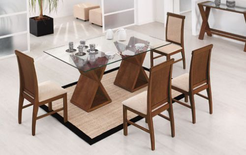 Mesas de Jantar de Vidro Fotos Modelos