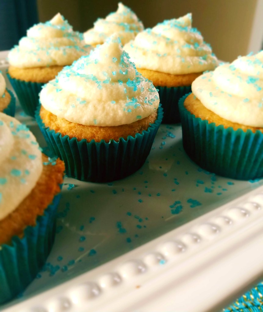 Classic vanilla cupcakes are moist and made from scratch. So much better than that box mix you have lying around.