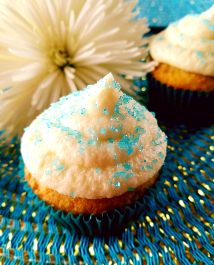 Vanilla cupcakes are easy and fast to make at home. So much better than a box mix!