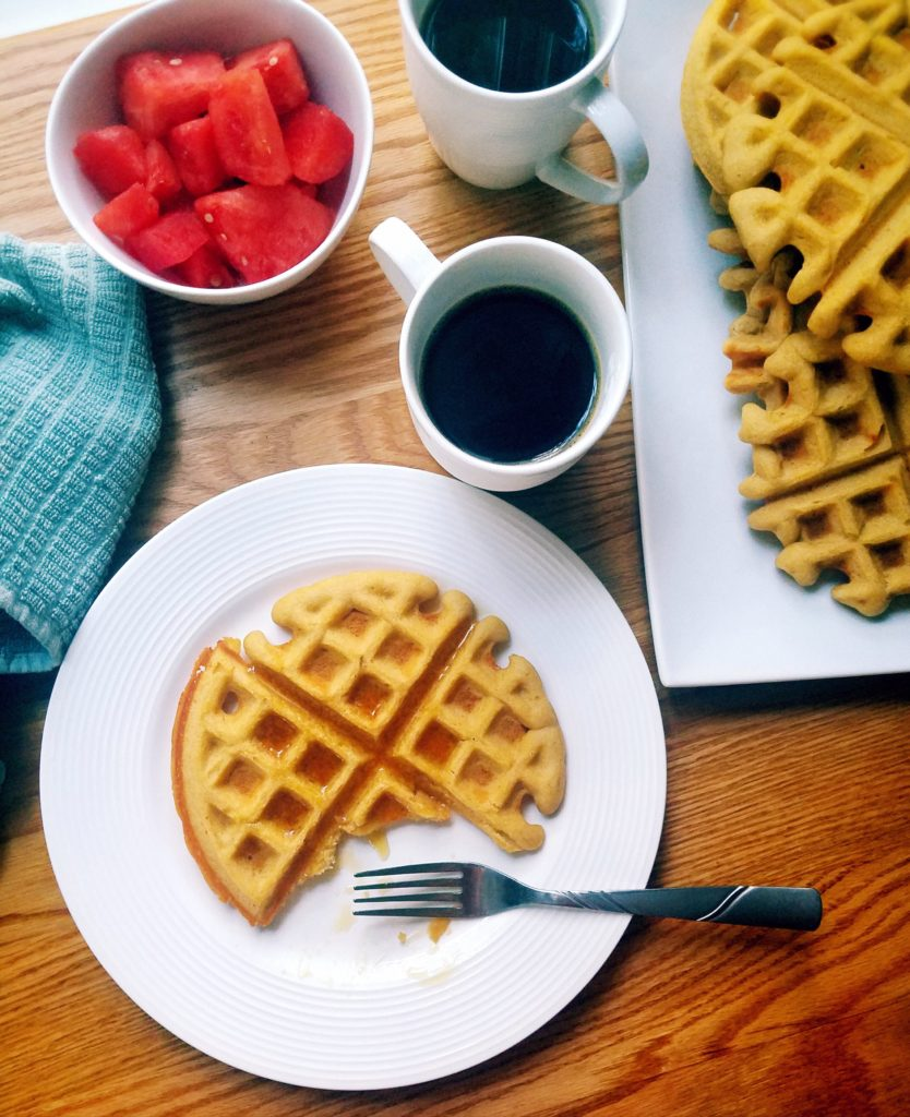 Healthy homemade chickpea waffles are easy to make and can be whipped up in under 10 minutes!