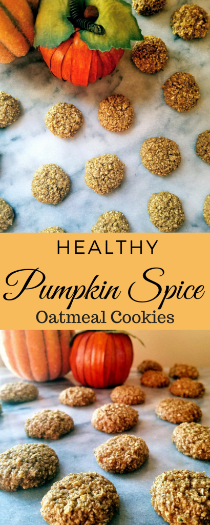These healthy pumpkin spice oatmeal cookies are gluten free and super easy to make. Bake them up when you're short on time, but still want all that wonderful pumpkin spice flavor of fall.