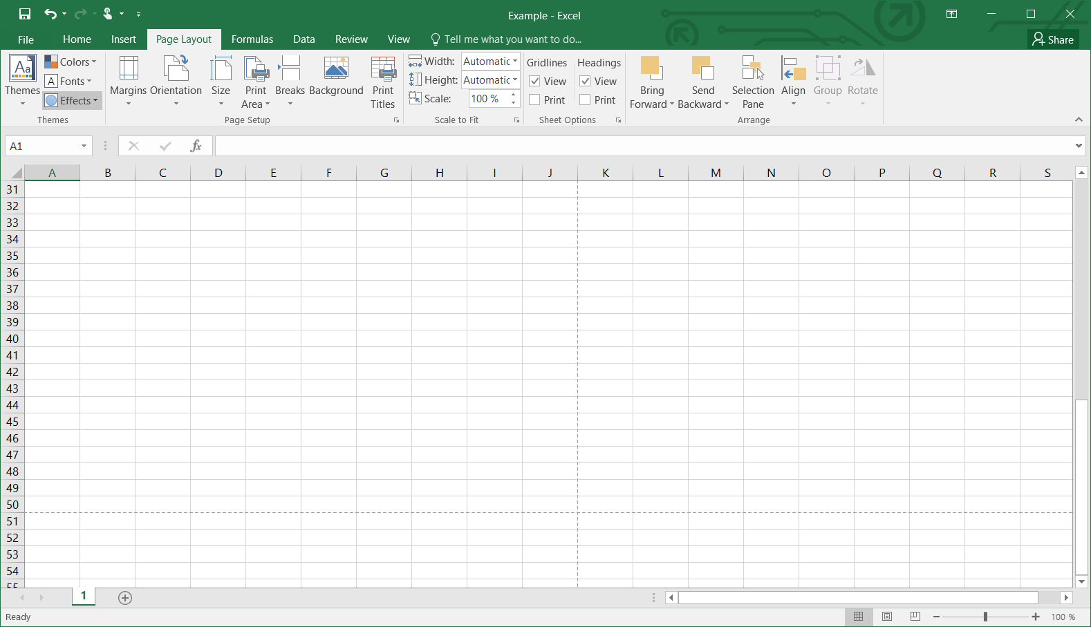 How To Set The Print Area In Excel