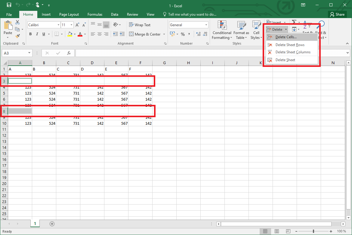 How To Delete All Blank Rows In Excel Fast