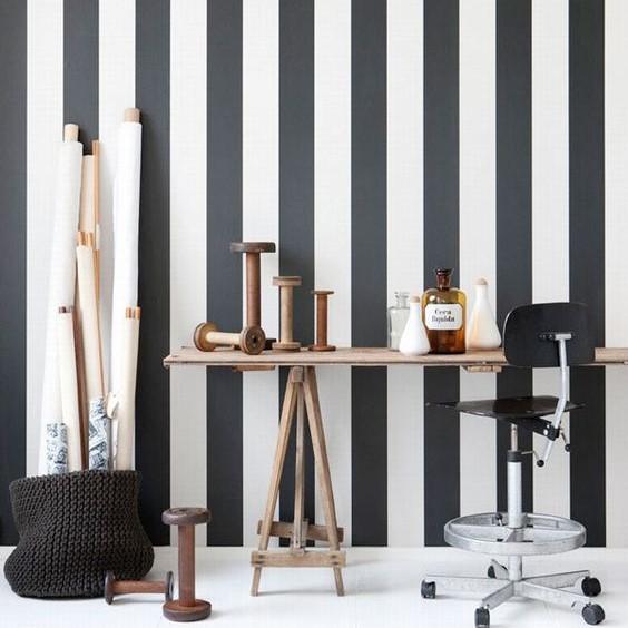 Come decorare gli interni con pareti a righe verticali: Le Pitture A Strisce E I Colori Che Diventano Arredamento