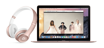 Roze Altın MacBook ve Beats