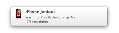 iBetterCharge Notification