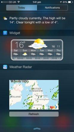 Widget Weather ios