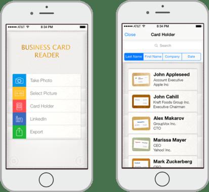 Business Card Reader Plus ios