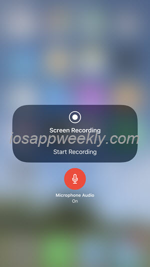 turn on microphone audio for screen recording on iphone