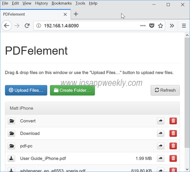 Transfer PDF from PC to iPhone over Wi-fi using PDF Element
