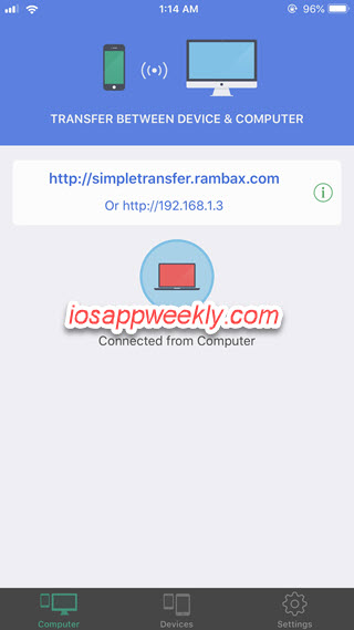 simple transfer iphone computer transfer ip address