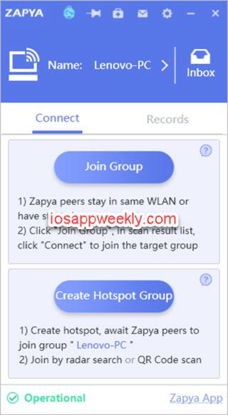 zapya file sharing for windows pc