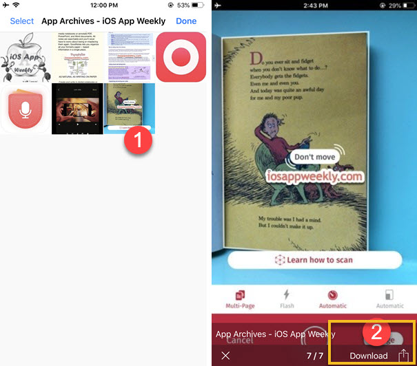 download all images from a web page in Alook web browser iphone