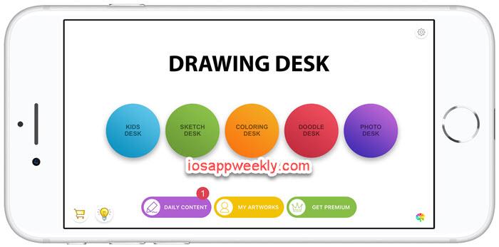 Drawing Desk app iPhone