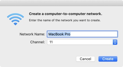 create computer to computer network mac