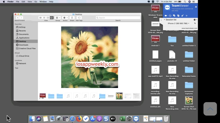 iPhone control Mac with teamviewer