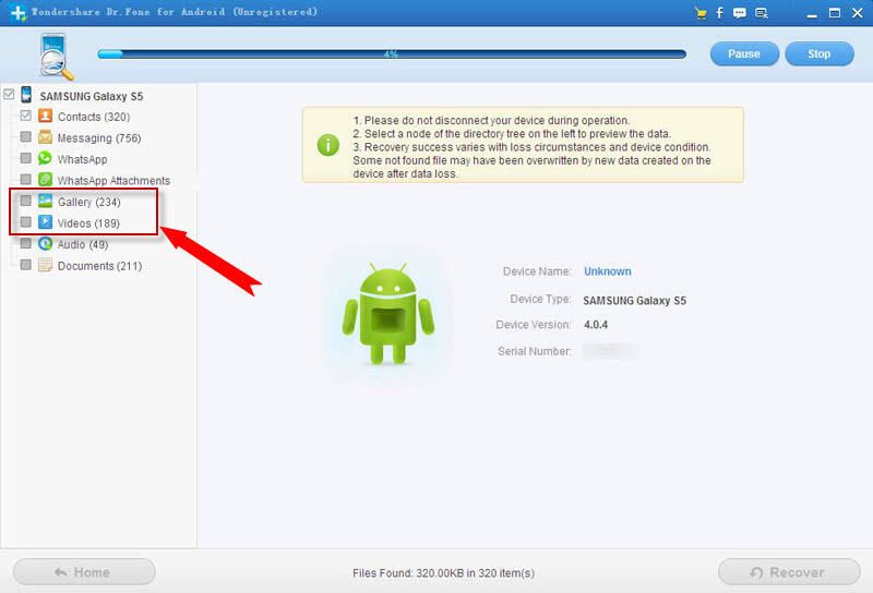 recover photos videos from samsung galaxy s4