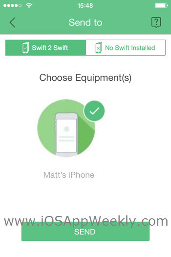send photos videos from iphone to iphone using swift wireless transfer