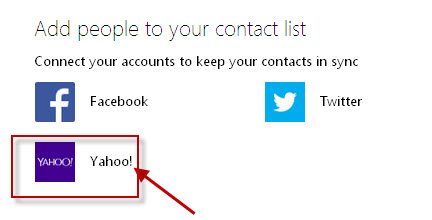 sync yahoo contacts to hotmail