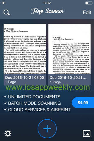 iphone tiny scanner app free version