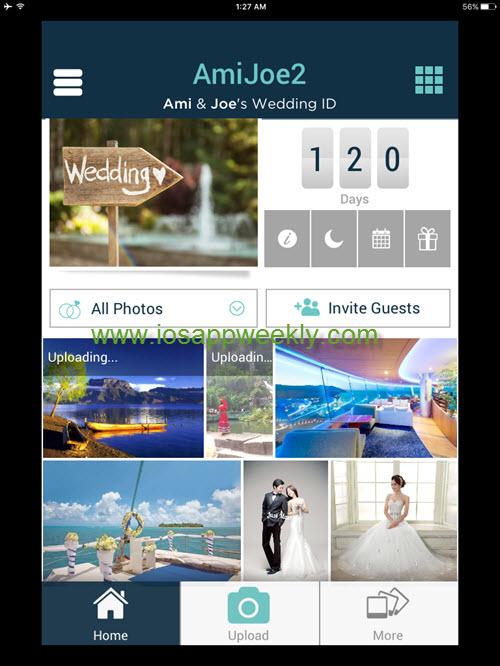 wedpics app on ipad