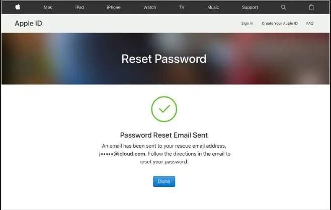 Reset apple account