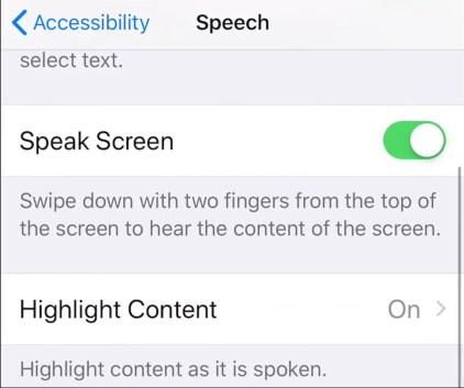Speak Text iPhone