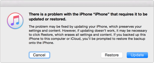 Update and Restore iPhone with iTunes