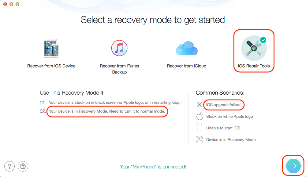 iOS repair tool to fix recovery mode issue